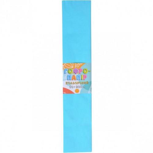 Гофрированная бумага 50*200см, светло-голубой, 17г/м2 20%