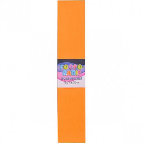 Гофрированная бумага 50*200см, средний оранжевый, 17г/м2 75%