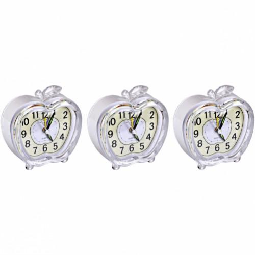 Настольные часы - будильник «Яблоко» с подсветкой 9*9*4см