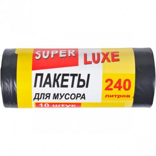 Пакет для мусора А10 260×370 /240 л 5шт. Super Luxе, черный