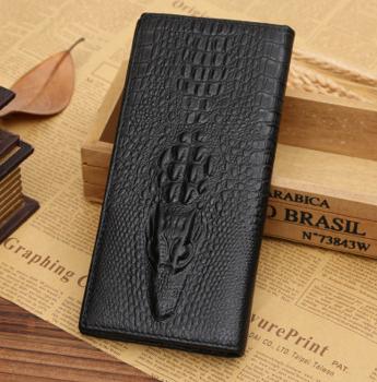 Мужской кошелек, клатч, портмоне к/з Крокодил Alligator