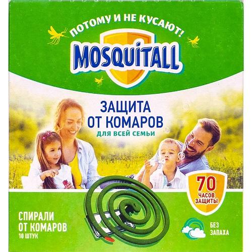 "Спирали от комаров ""Mosquitall"" 10шт"