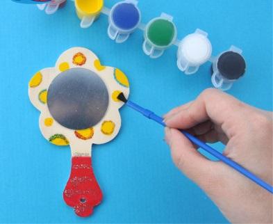 Заготовка деревянная детское зеркальце 13-14см