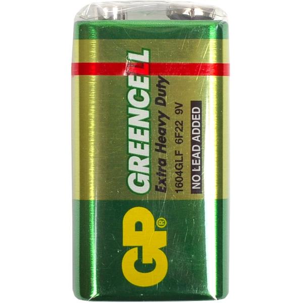 Батарейка GP 1604G-B солевая 6F22 (крона)