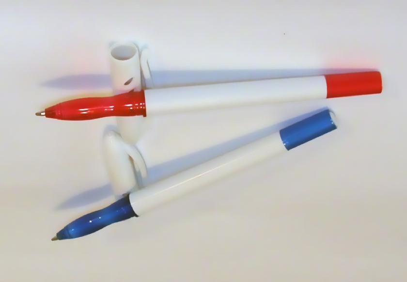 Ручка шариковая под лого (3 цвета корпуса: синий, красный)