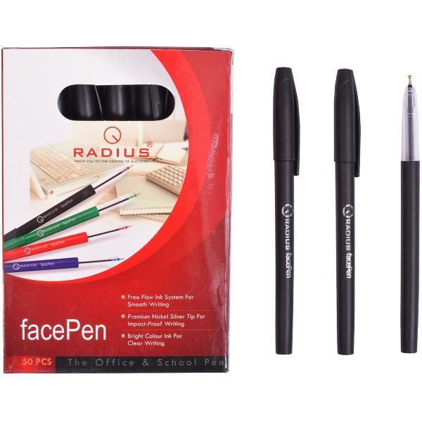 """Ручка шариковая """"facePen"""" на масляной основе 0.7мм, ЧЕРНАЯ """"RADIUS"""""""