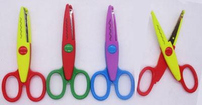 Ножницы детские 13,5см с фигурными лезвиями