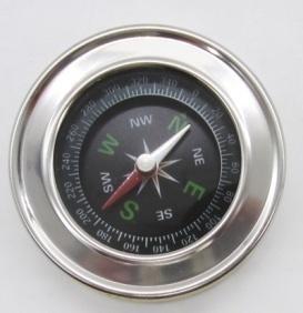 Компас металлический, диаметр 57мм