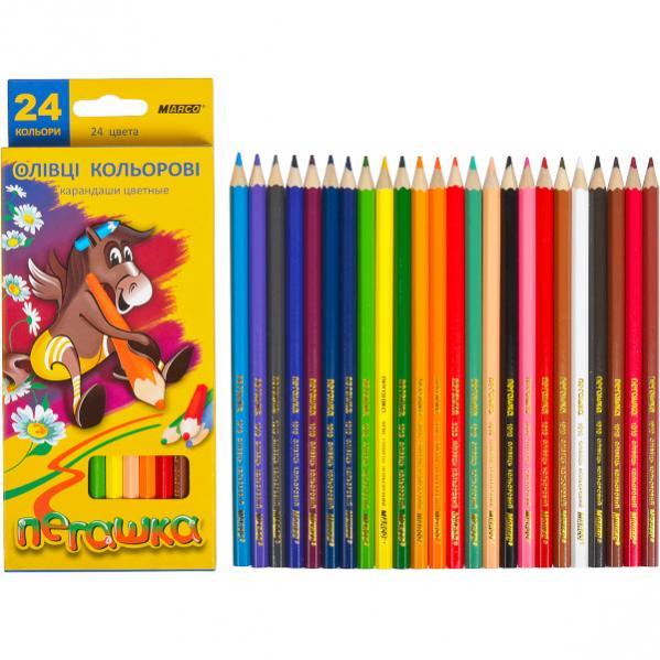 Набор цветных карандашей 24цв серия Пегашка MARCO