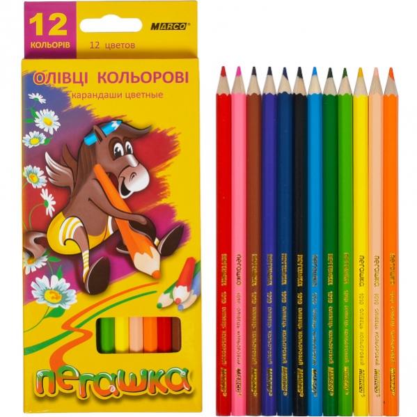 Набор цветных карандашей 12цв серия Пегашка MARCO