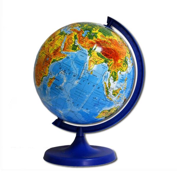Глобус географический, диаметр 220мм