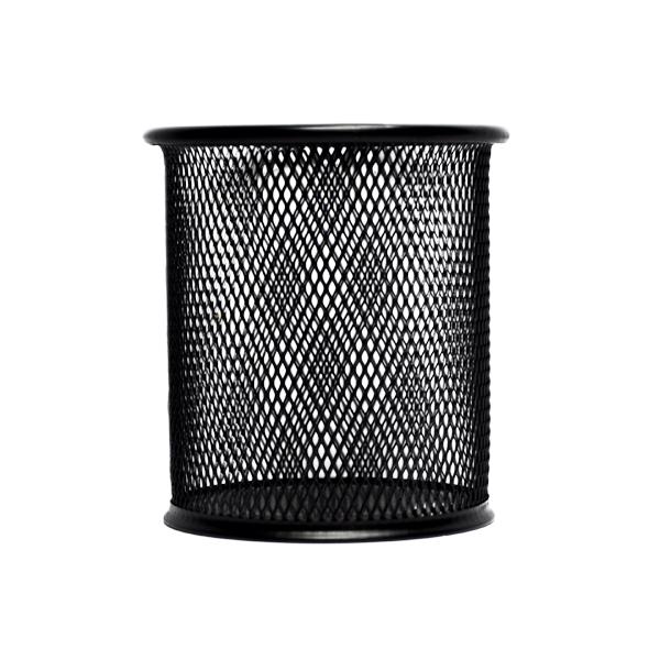 Стакан для ручек - металлическая сетка, черный