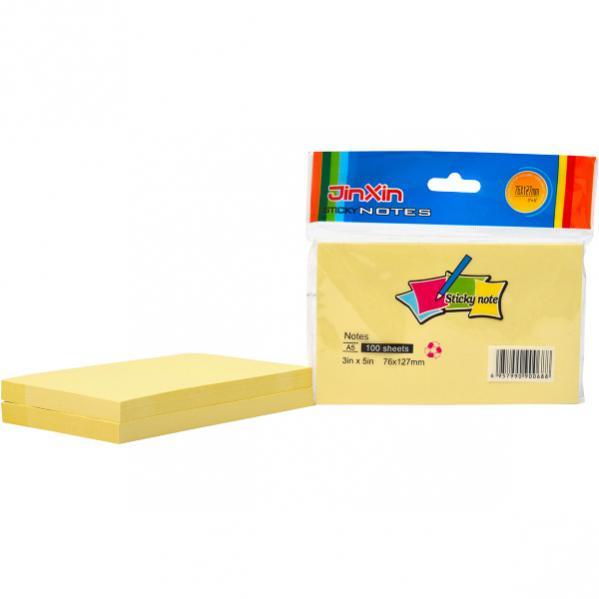 Бумага для заметок 76*127мм 100л с липким слоем