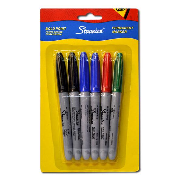 Набор тонких цветных маркеров 6цв