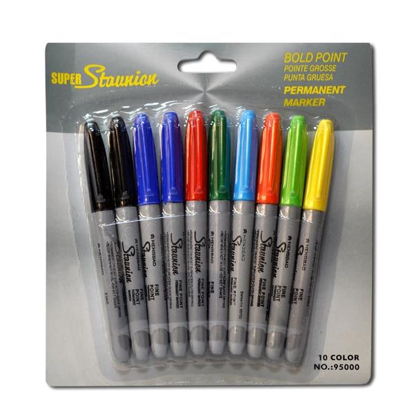 Набор тонких цветных маркеров 10цв