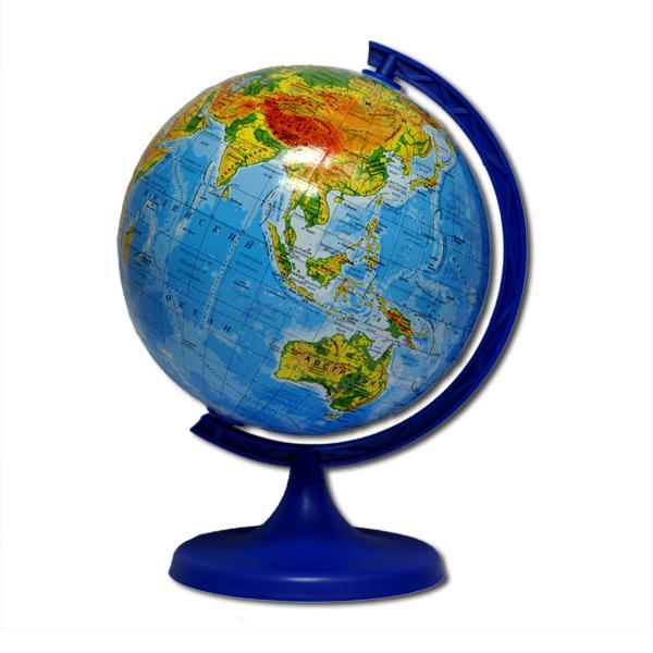 Глобус географический, диаметр 160мм