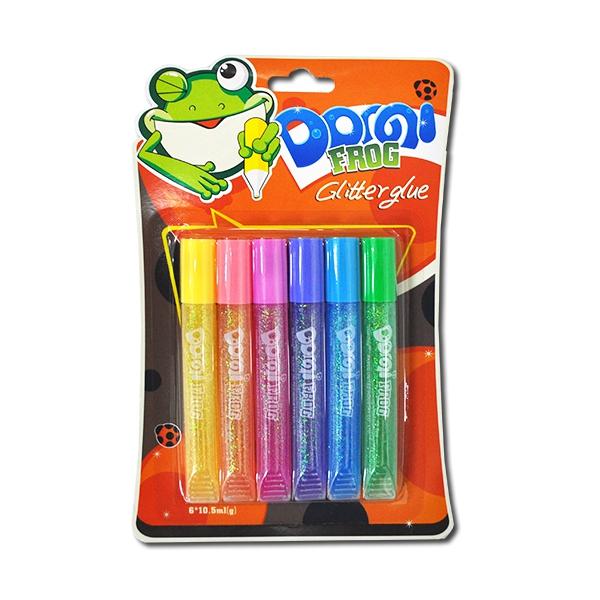 """Клей с блёстками 6цв*10,5мл НЕОН """"Dorgi frog"""""""